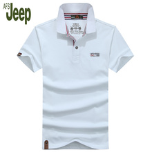 2017 new arrival spring AFS JEEP/ Battlefield Jeep men's polo shirt short-sleeved solid color casual polo shirt men 50
