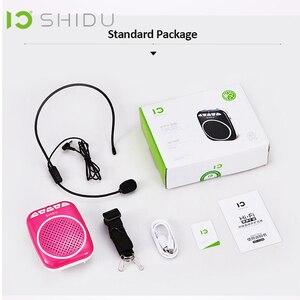 Image 5 - Портативный голосовой усилитель SHIDU, Мегафон, мини аудио колонка с микрофоном, перезаряжаемый Сверхлегкий Громкий динамик для учителя 308