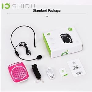 Image 5 - Shidu ポータブル音声アンプメガホンミニオーディオスピーカーとマイク充電式超軽量スピーカー教師のための 308