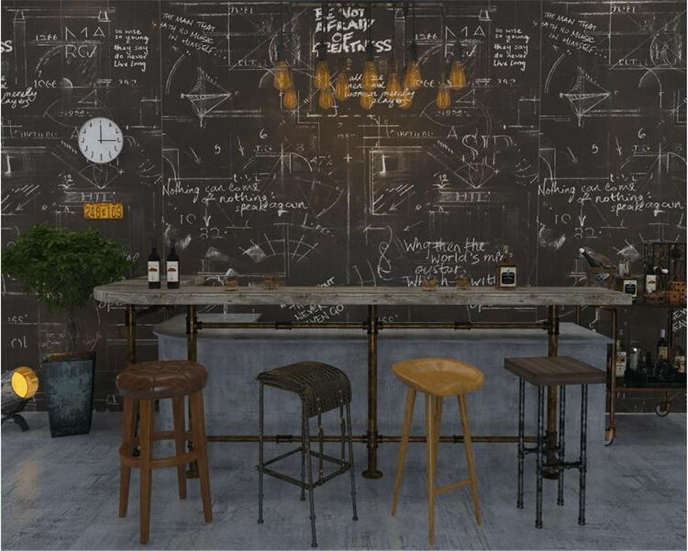 beibehang papier peint Abstract letters wall paper study rooms bars restaurants clothing stores papel de parede 3d wallpaper