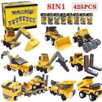 Blocks Truck Technic LegoINGLY Mechanical Engineering Vehicles Armor DIY Assemble Bricks Toys For Children New Year