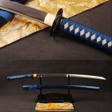 Fully Handmade Japanese Vintage Samurai Sword Folded Steel Blade Katana Full Tang Sharp Edge Knife Delicate Home Decoration