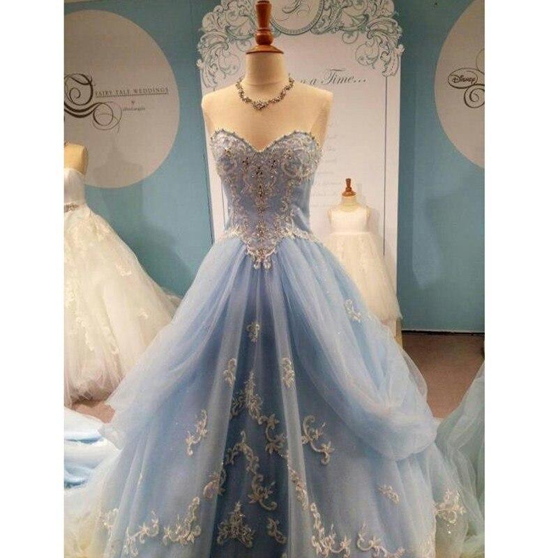 Photo réelle poussiéreux bleu Quinceanera robes robes de bal 2019 appliques perles Tulle princesse douce 15 robe anniversaire Debutante robe
