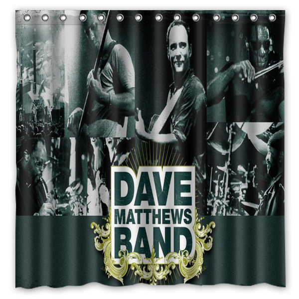 Dave Matthews Band Pattern Creative Bath Shower Curtains Bathroom ...