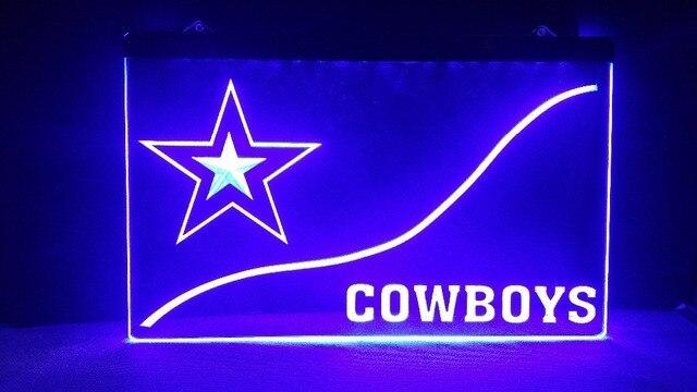 b 244 Dallas Cowboys beer bar pub club 3d signs LED Neon Light Sign ...
