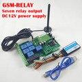O envio gratuito de Correio aéreo 1 pcs GSM SMS sem fio Real-Time Sete controlador De Saída De Relé de Controle Remoto