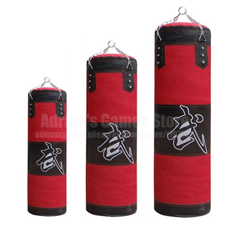 60/80/100 / 120cm Sandbag Qalın Kətan Punching Çanta İdman - Fitness və bodibildinq - Fotoqrafiya 5