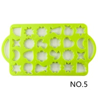 1 Piece Size 4 6 Green Color Moulds Cookies Biscuits Cutting Molds All Kinds Of Shapes