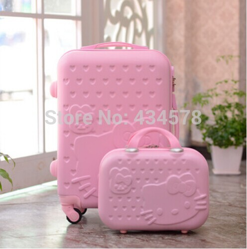 4dcc64ccc7 High quality abs pc hello kitty luggage set