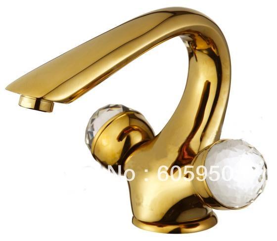 Golden Bathroom Basin Mixer Sink Faucet