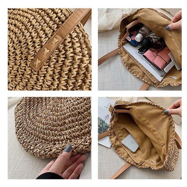 Handmade Rattan Women Shoulder Bags  5