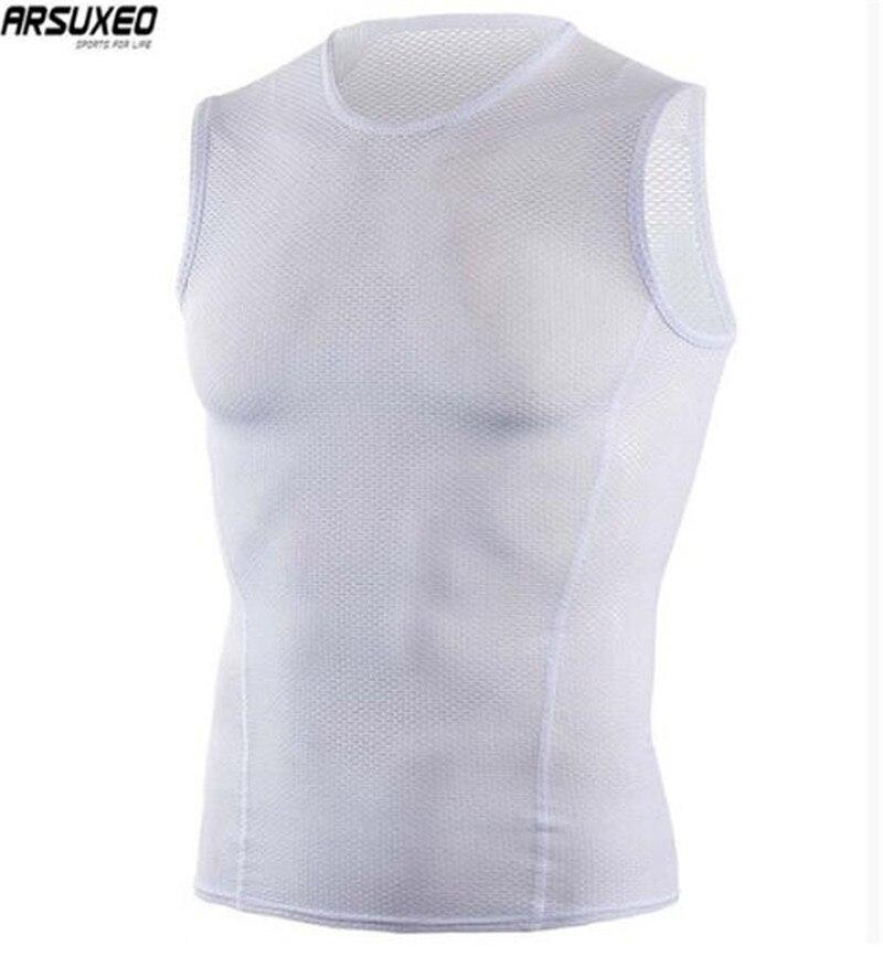 Arsuxeo Heren Zomer Ademend Fietsen Vest Running Walking Fiets Hemd Sneldrogend Mesh Mouwloze Sport Vest