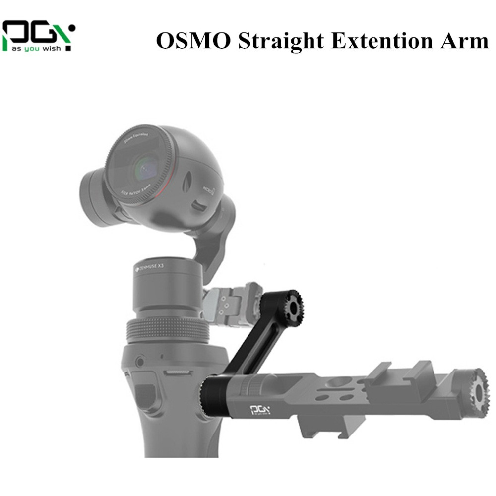 PGY DJI Osmo Parts 5 Straight Extension Arm For OSMO 4K Camera 3-Axis Handheld Gimbal in stock