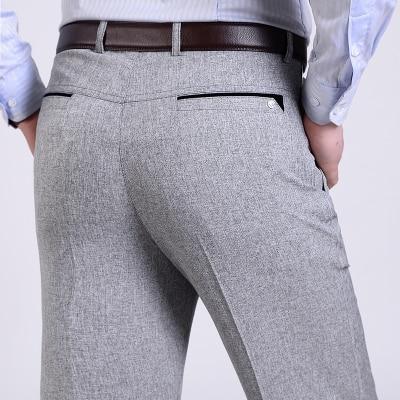 Summer Men Suit Pants Mens Silk Trousers Brand Business Menu0026#39;s Pant Western Style Pants Formal ...