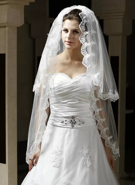 Long Sheer 2 Layer Tulle Veil Lace Edge Custom Made Long Veil For Bride Tulle Wedding Dress Veil Custom Size Veil