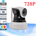 Alta Calidad de Onvif 720 P Cámara IP Inalámbrica Wifi CCTV Cámara HD interior Pan Tilt IR CUT CÁMARA de Red de Seguridad de la Ayuda 128G SD tarjeta