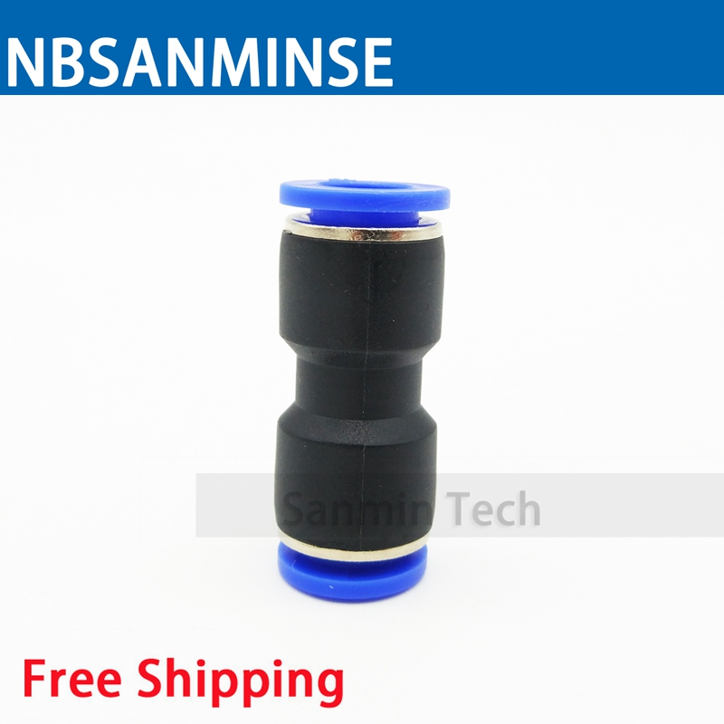 PUC10 Type Coupling Pneumatic Fitting Air Plastic PU Tube Fitting Connector Compressor Tube Union Straight Sanmin