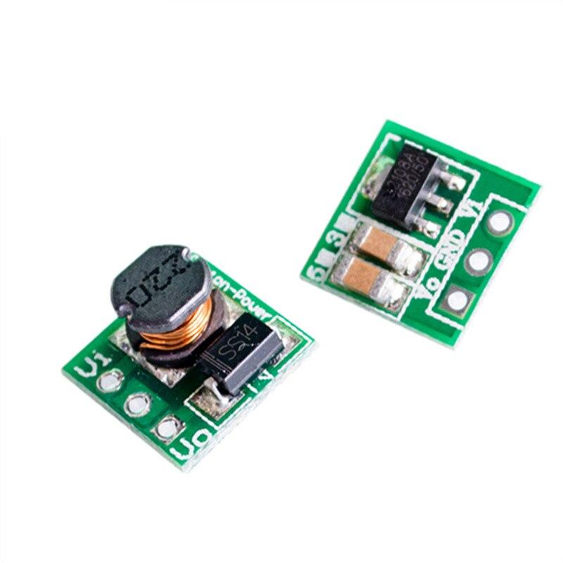 0.8-3.3V To 3.3V DC-DC Step-Up Power Module Voltage Boost Converter Board 1.5V 1.8V 2.5V 3V 3.7V 4.2V 5V To 3.3V