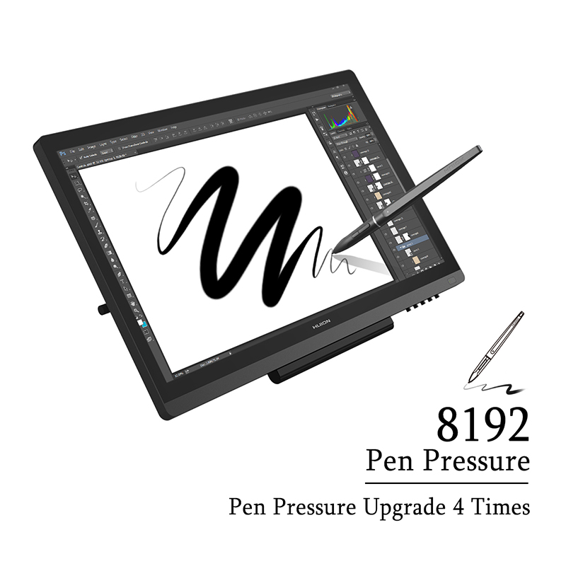 Original HUION Kamvas GT-191 Pen Tablet Monitor 8192 Pressure Levels 19 53  Inch Graphics Drawing Pen Display Monitor with Gifts