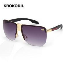 Металлические квадратные стимпанк Солнцезащитные очки для мужчин и женщин, модные очки, фирменный дизайн, ретро оправа, Винтажные Солнцезащитные очки, высокое качество, UV400