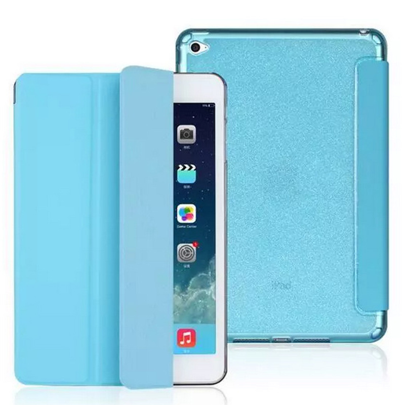 For ipad air 2 case PU leather+Soft TPU Silicon Translucence Back Cover Flip Stand Smart case for iPad air 1 for iPad 2 3 4 original xiaomi translucence tpu soft case for max