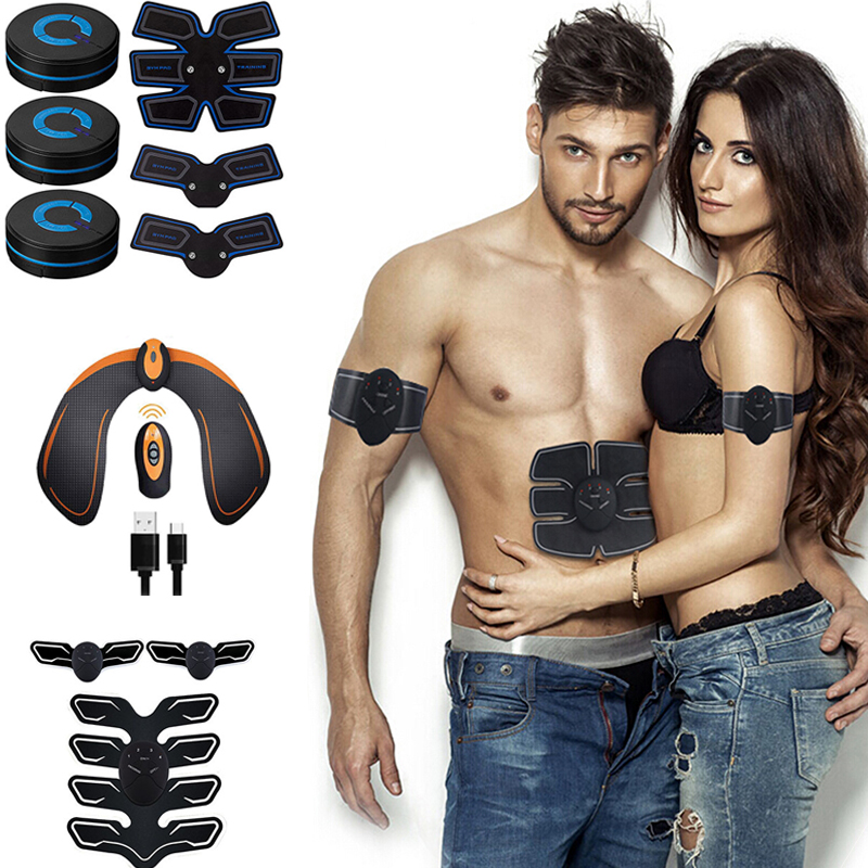 Abdominal Muscle Stimulator EMS Hip Trainer ABS Toner Vibration Fitness Massager Slimming Machine Weight Loss Home Gym Equipment