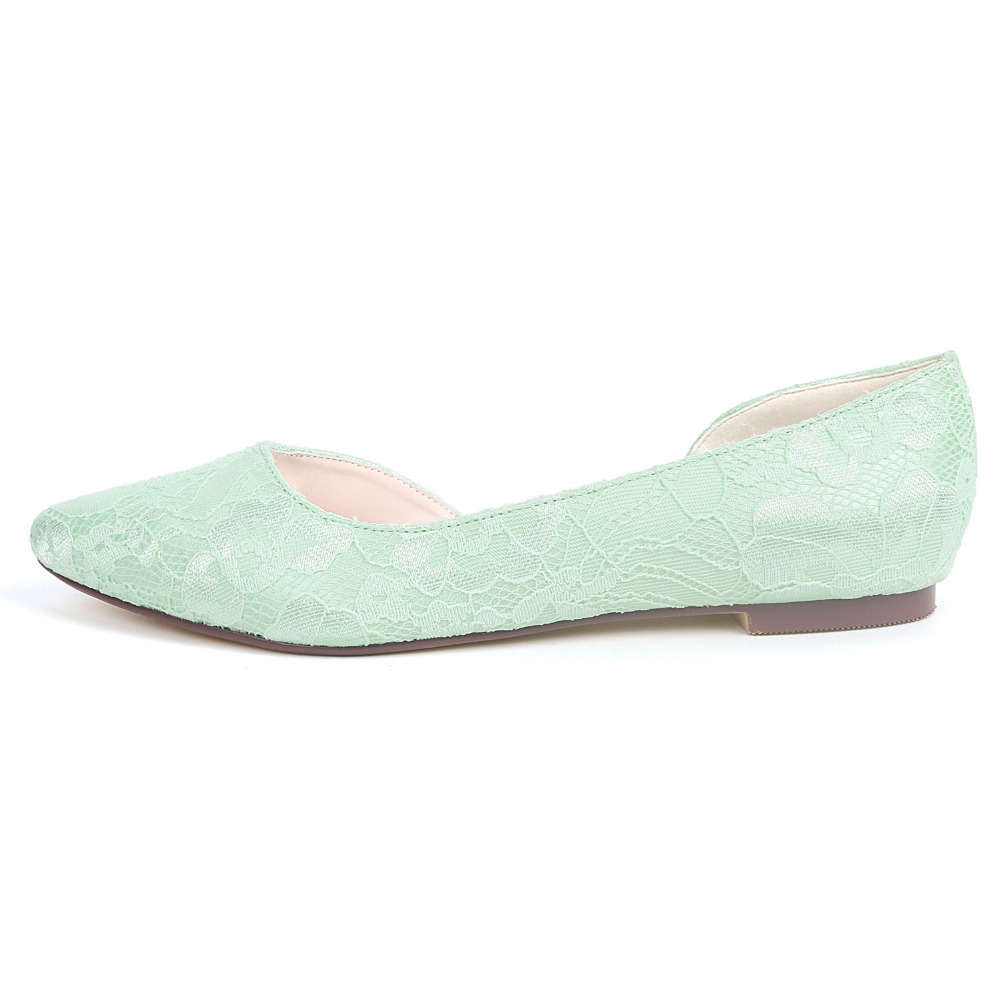 Creativesugar D orsay side empty flats pointed toe lace women s flat ... 41316a6758cb