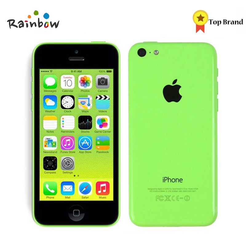 Unlocked Original IPhone 5c IOS Dual Core 4.0 Inches TouchScreen 8.0MP Camera With WIFI GPS Refurbished Mobile Phone