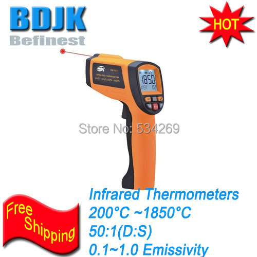 Professional Portable Infrared Thermometer 200~1850 Temperature Instruments 100% original af110 professional portable human body infrared thermometer