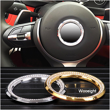 Car Styling Steering Wheel Logo Modification Stickers Ring Synthetic Diamond Decoration Trim For BMW 3 5 Series X1 X3 X5 X6 image