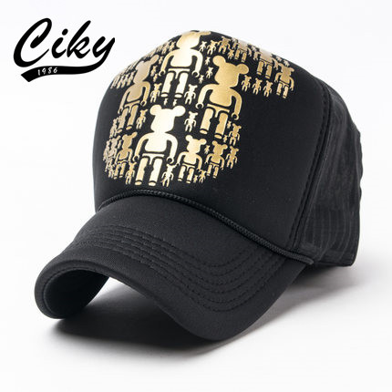 Fashion New Men's Baseball Cap Women Gorras Cartoon Bear Printed Mesh Casual Cap Summer Outdoor Sport Sun Hat wholesale