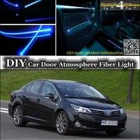 interior Ambient Light Tuning Atmosphere Fiber Optic Band Lights For TOYOTA Avensis Inside Door Panel illumination Refit