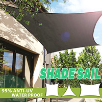 Sun Shade Sail Waterproof Cloth Square Triangles Rectangle Outdoor Shading Courtyard Balcony Carport Awnings