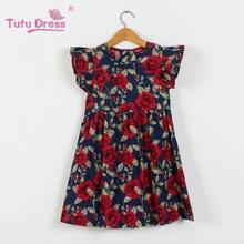 Summer Girls Floral Print Princess Dresses For Baby Girls