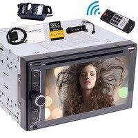 Аудио стерео double DIN 6.2 dvd плеер Bluetooth ресивер, 3 популярные полезно УИС и Географические карты и Беспроводной удаленного и заднего вида Камера