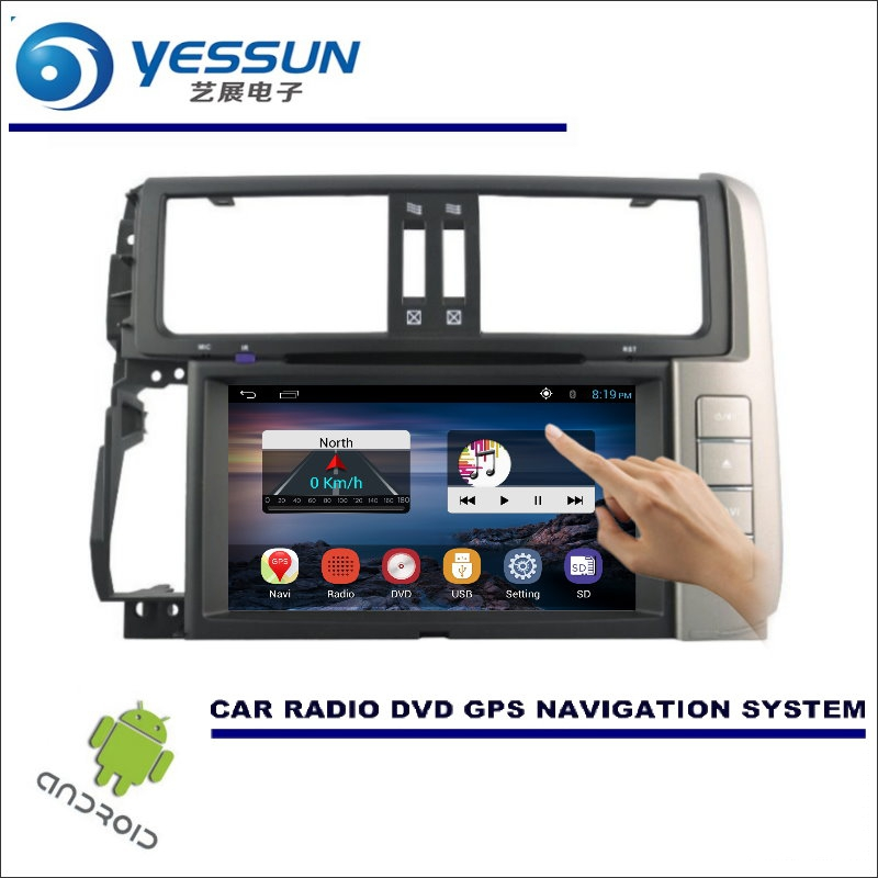 YESSUN For Toyota Prado 150 2009~2013 - Car DVD Player GPS Navi Navigation Android System Radio Stereo Audio Video Multimedia women fashion winter hooded down jacket faux fur collar warm elegant thick outerwear female solid color slim long coat plus size