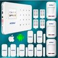 Alta qualidade kerui kerui alarme para casa com detector pir, GSM Casa Alarme de Segurança Detector Infravermelho