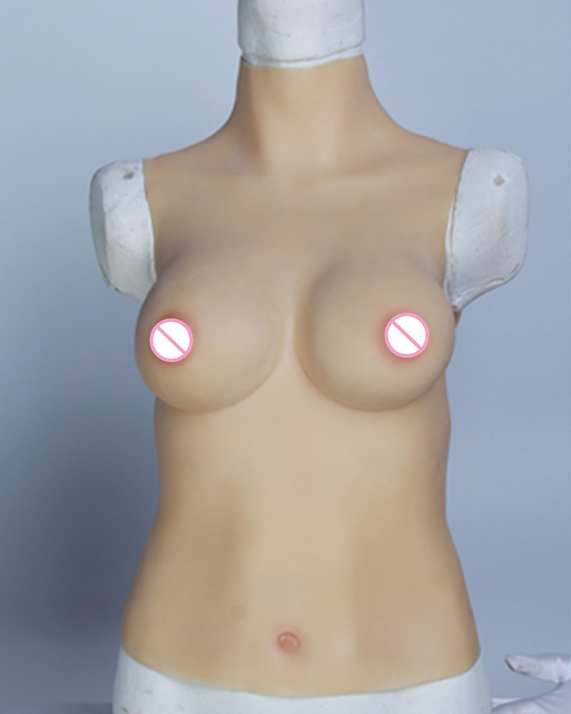 C Cup Fake Silicone Breast Forms Chest Enhancer Prosthetics Shemale Transgender Crossdre ...
