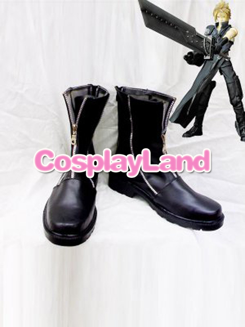 Final Fantasy VII Cloud Strife Cosplay Boots Shoes Game Party Cosplay Boots  Custom Made for Adult