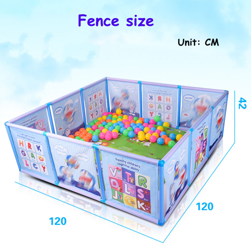 2018 Baby Playpen Kids Fence Playpen Plastic Baby Safety Fence Pool Baby Game Fence Baby Crawling Safety Guardrail Step arena 2018 new baby safety fence guard folding kids playpen game playing pit marine ball pool portable children s game tent baby fence