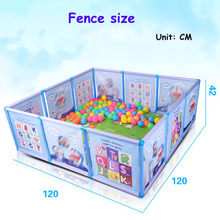 2018 Baby Playpen Kids Fence Playpen Plastic Baby Safety Fence Pool Baby Game Fence Baby Crawling Safety Guardrail Step arena