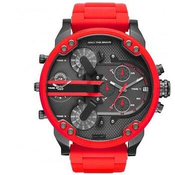 New Arrivals Red Strap DZ sport men watch Big Dial 52mm Brand invicta quartz watches 7370 Fashion Wristwatches Relogio masculino zeus watch