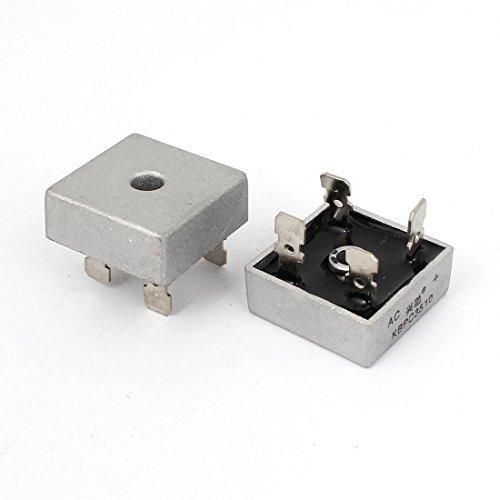 1000V 35A Metal Case 4 Pin Single Phase Bridge Rectifier KBPC35-10 (Pack of 2)