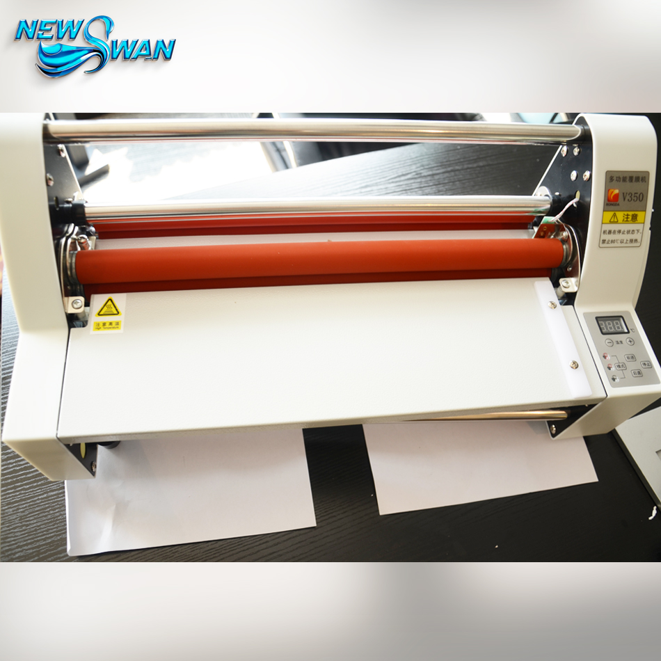 V350 High quality A3 Laminating Machine Hot and Cold Roll Digital Laminator, Auto temperature Control 2018 new hot roll and cold roll laminator 320mm laminating machine with led control board and 4 pcs rubber rollers
