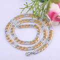316L Stainless Steel Necklace chain Gold and Silver Color Necklace Mens women Figaro and Cuban Chain jewelry