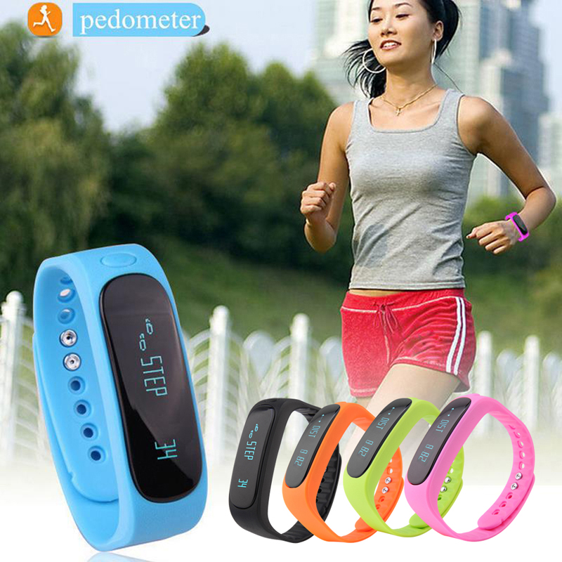 Hot sale E02 Bluetooth Smart sports bracelet Smart Electronics Bluetooth Sport Smart Watch Black Orange Blue