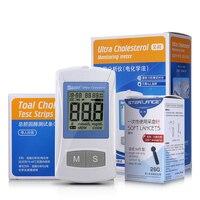 Su Chiamata Lipidi Nel Sangue di Prova Analizzatore di Colesterolo Grassi Nel Sangue Meter Dispositivo di Misurazione Multi Funzione con 25 pz Strisce Reattive Casa uso
