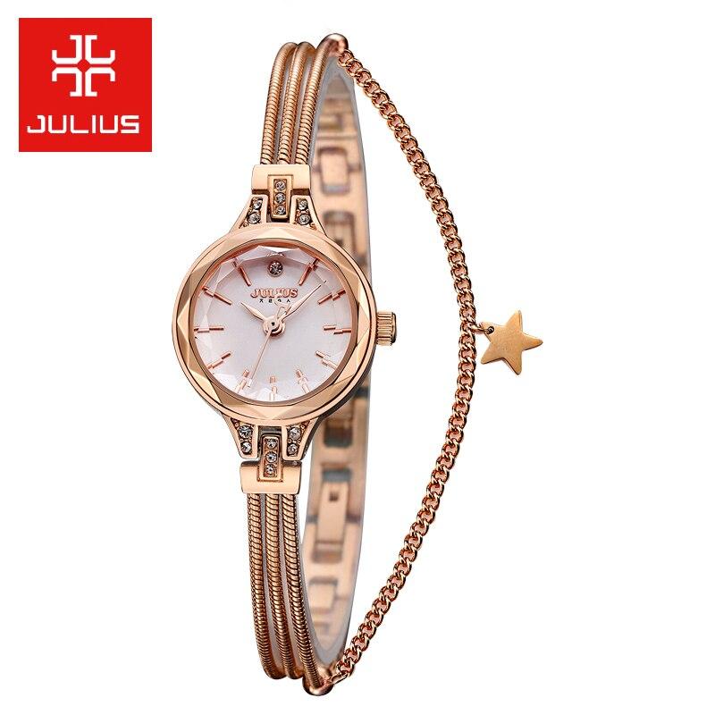 Nouveau 5 couleurs Bracelet bijoux montre serpent chaîne dame femmes horloge mode heures robe Business fille anniversaire cadeau boîte-in Montres femme from Montres    1