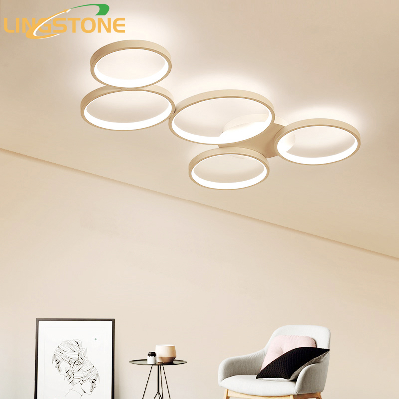 Modern Led Ceiling Lights for Living Room Kitchen Ceiling Lamp with Remote Control Flush Mount Ceiling Light Circular Lamp