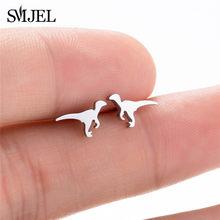 SMJEL – boucles d'oreilles Punk Dragon, petit dinosaure avec ailes en or, bijoux pour filles et hommes, cadeau de noël